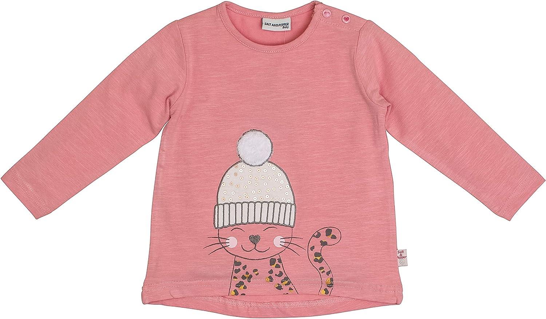 SALT AND PEPPER Baby-M/ädchen Lovely Katze Pailletten Sweatshirt