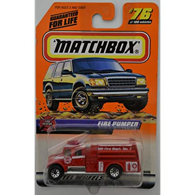 MBX Fire Pumper #76 Red Matchbox Wheels Series 1:64 Scale Die Cast Car: Toys & Games