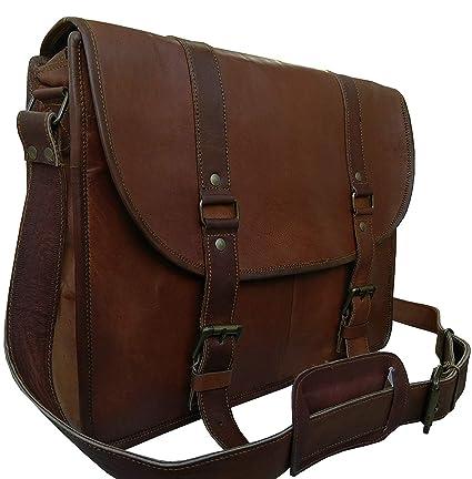 22bc59c559 Amazon.com  Leather Messenger Bag for Men   Women