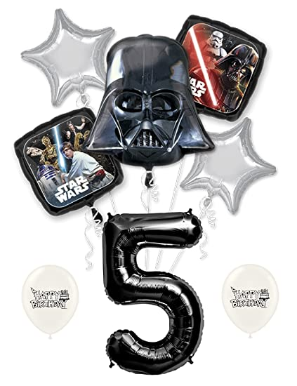 Amazon.com: Darth Vader de star wars de cumpleaños Globos ...