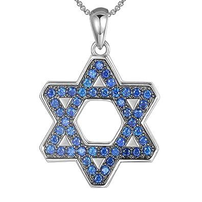Collar judío de Acero Inoxidable con Colgante de Estrella de ...