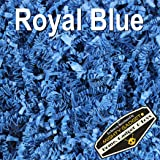 Mighty Gadget (R) 1 LB Royal Blue Crinkle Cut Paper Shred Filler for Gift Wrapping & Basket Filling