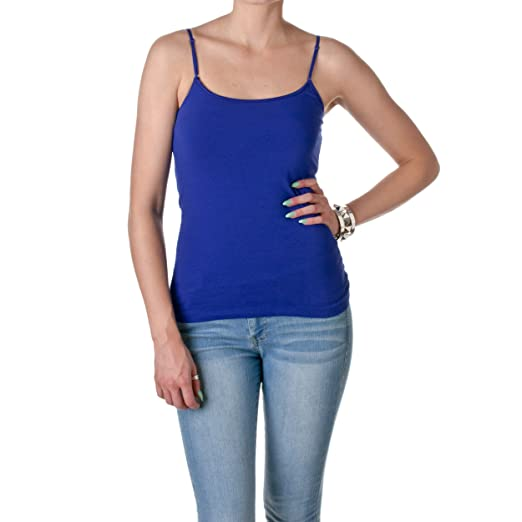 30ffb7cf439d2 Image Unavailable. Image not available for. Color  Cami Camisole Built in Shelf  BRA Adjustable Spaghetti Strap Tank Top ...