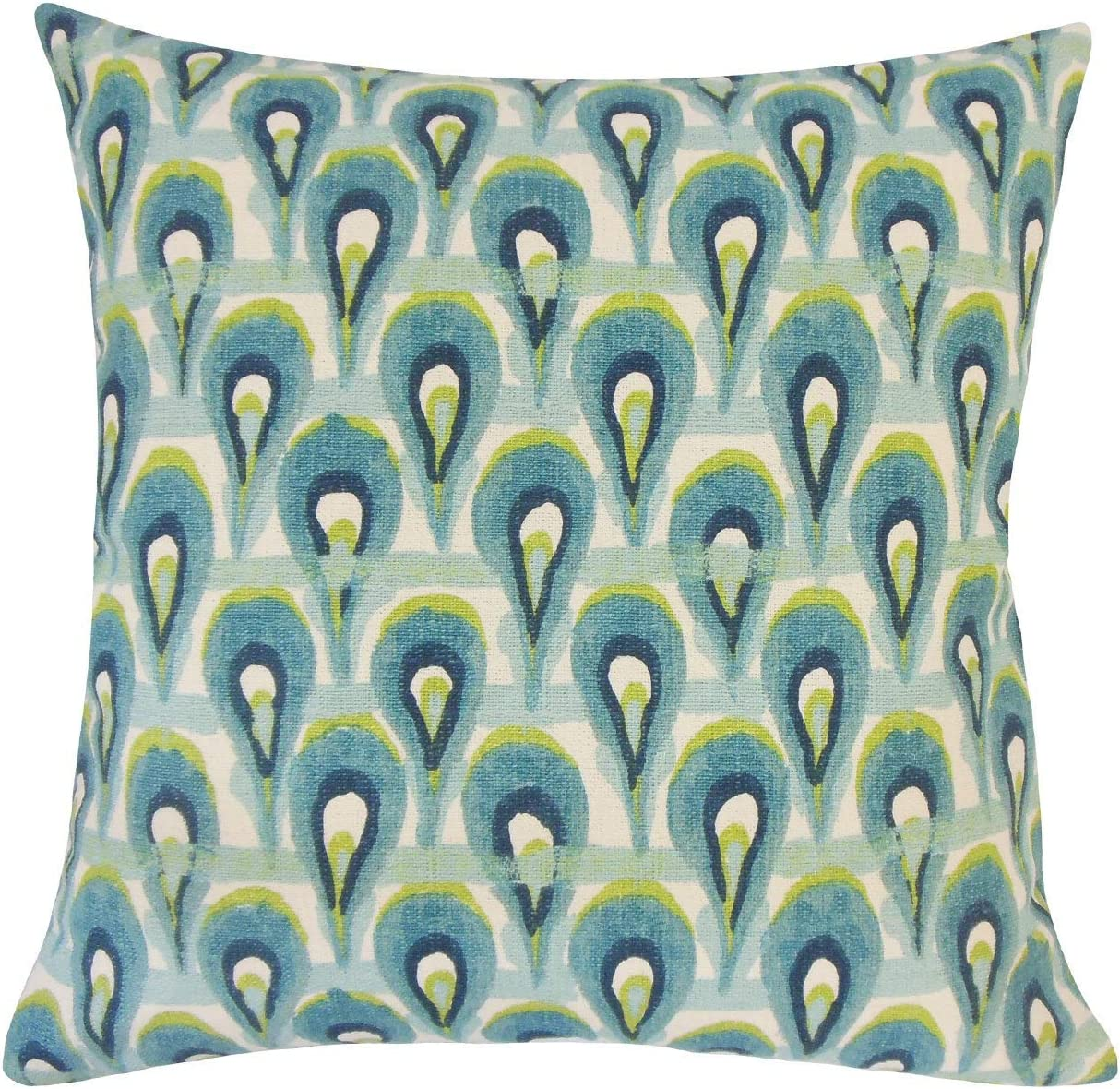 The Pillow Collection Leehi Geometric Frost Down Filled Throw Pillow