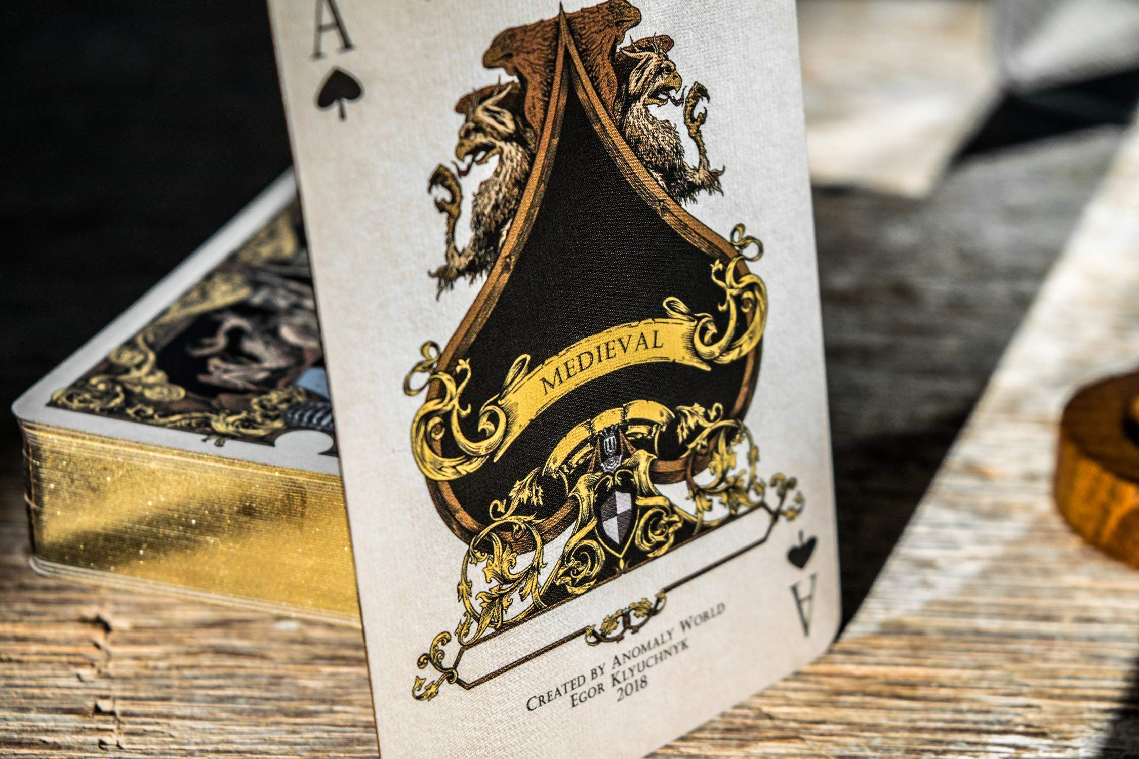 Medieval Royal Playing Cards, Gold Deck of Cards, Cool Magic Cards, Best Poker Cards, Unique Illustrated Foil Colors for Kids & Adults, Playing Card Decks Games, Standard Size by Elephant Playing Cards (Image #7)