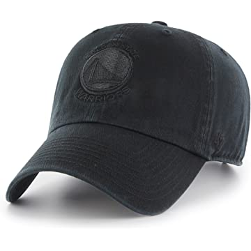 size 40 59393 44ee4 Amazon.com    47 NBA Golden State Warriors Clean Up Adjustable Hat, Black,  One Size   Clothing