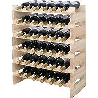 BESTOZNON Portabotellas de pl/ástico estilo europeo para botellas de agua Display Mat Vino Soporte organizador de almacenamiento para estantes cocina despensa frigor/ífico blanco