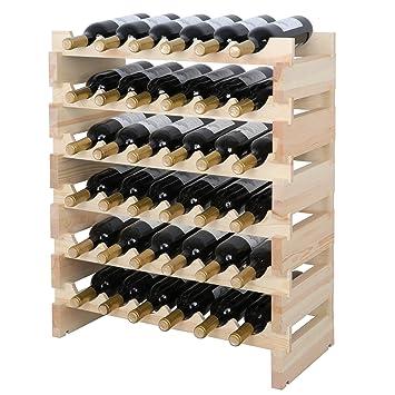 Amazoncom Smartxchoices 36 Bottle Stackable Modular Wine Rack