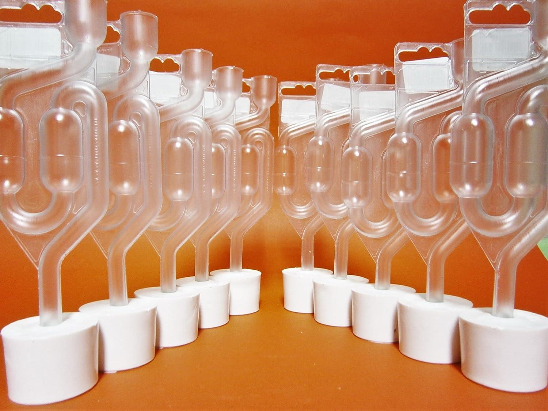 10 x BOUCHON AVEC TROU 43/40 + BARBOTEUR Plastique | Bouchons | Bonde | Fermentation Bonde | Dame-Jeanne | Bonbonne | Levure de vin AlcoFermBrew
