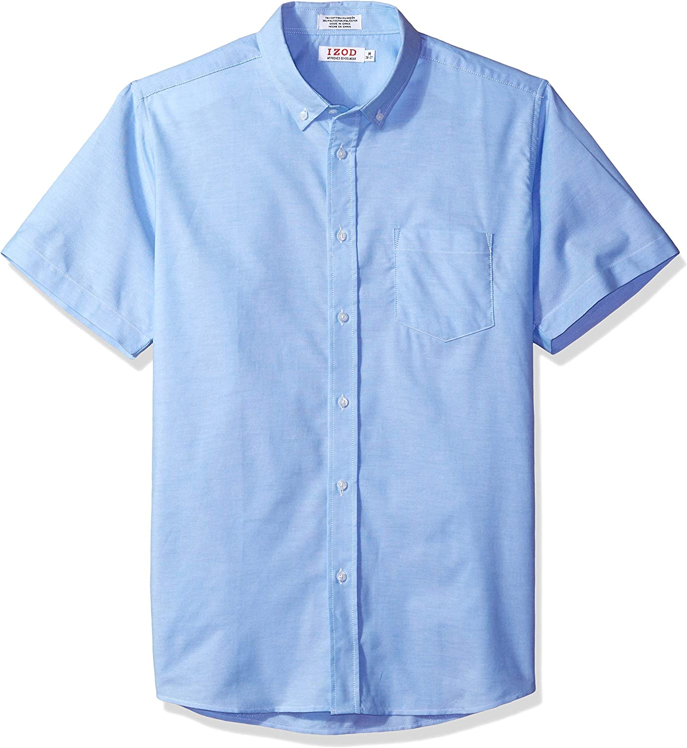 George Boys School Uniforms Short Sleeve Button Up Oxford Shirt