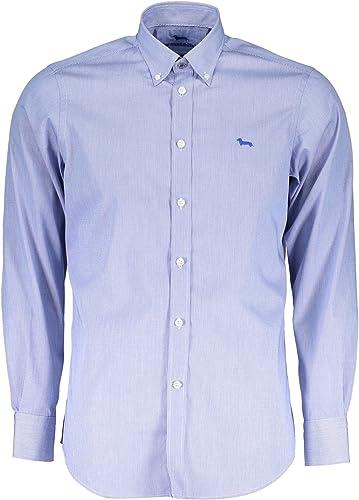 Harmont&Blaine Camisa Azul: Amazon.es: Ropa y accesorios