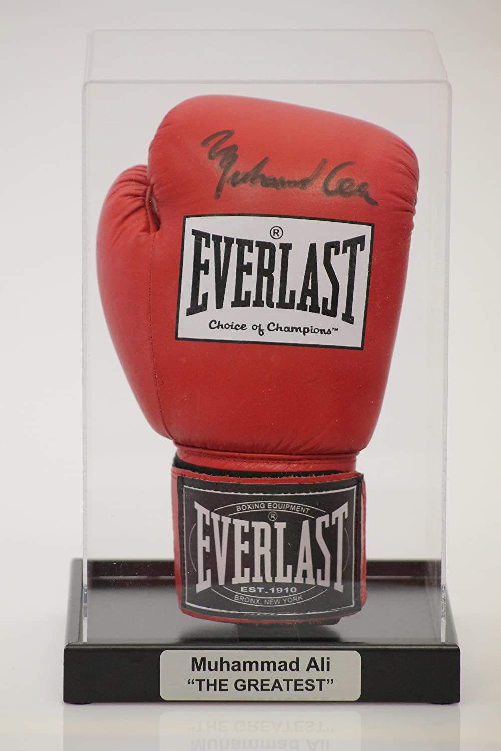 Acrylic Boxing Glove Display Case with Classic Black Base and FREE Personalised Plaque Dream Keepers Ltd