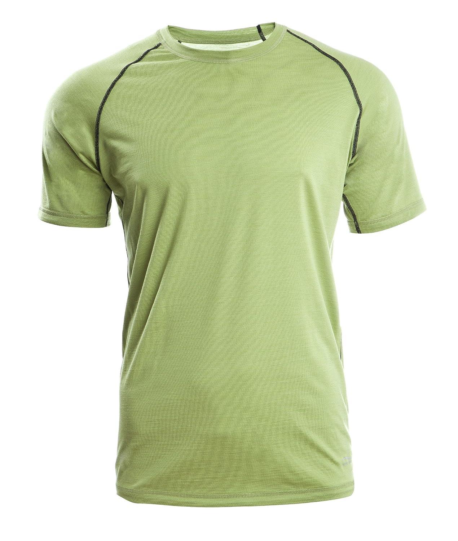 Engel Sports Herren Shirt kurzarm, GOTS - Regular Fit - Lime S