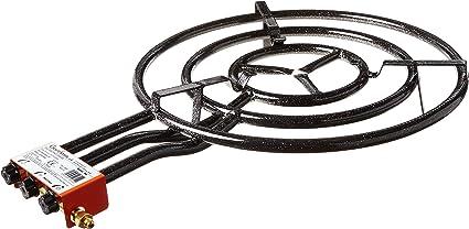 Garcima 700 - Paellero gas butano, Negro, 70 cm