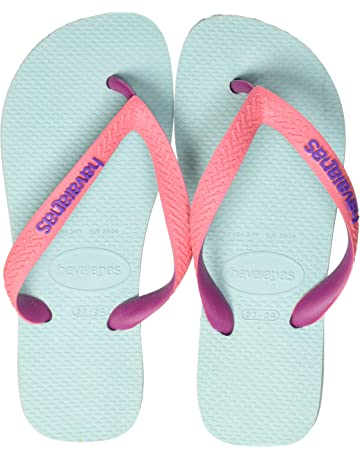Girls Purple Cheetah Print flip Flop Thong Sandal Sz 13//1
