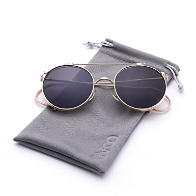 Cvoo Steam Punk Gothic Vintage Clamshell Hook Up Metal Sunglasses For Women/Men 1pmIY64q