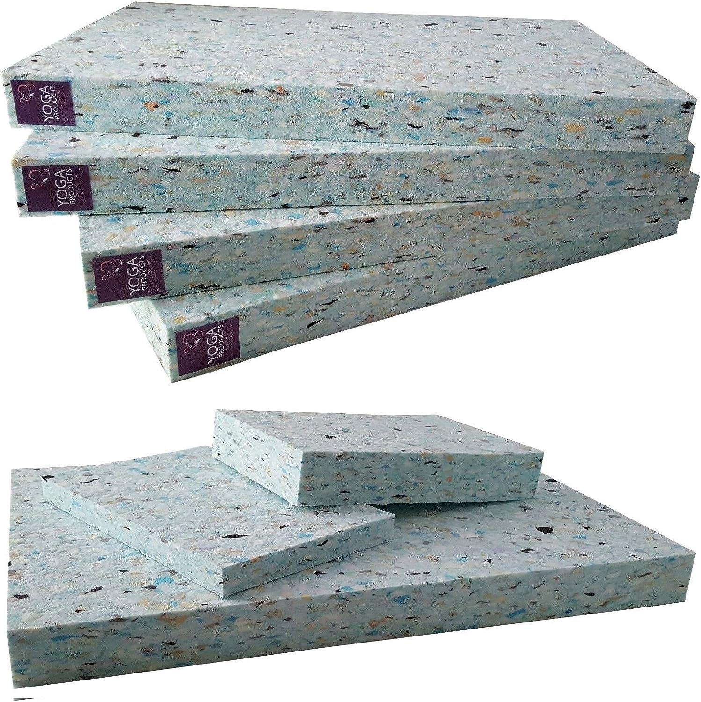 4 x Ruth White Yoga Recycled FULL Chip Foam Yoga Blocks