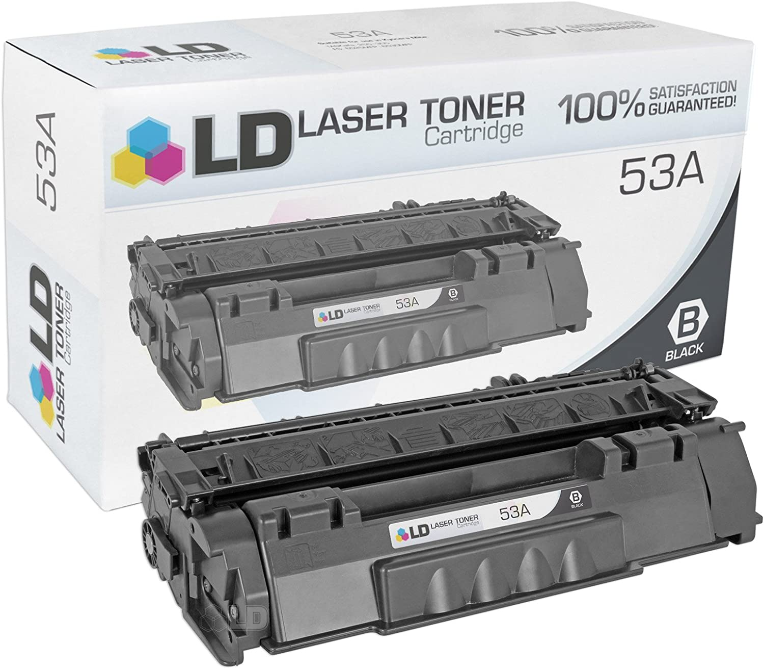 LD Compatible Toner Cartridge Replacement for HP 53A Q7553A (Black)