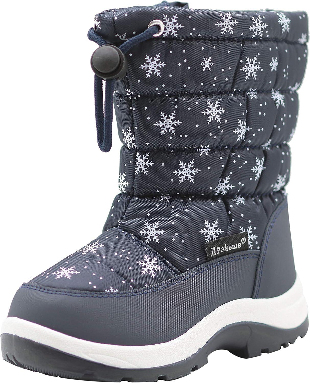 Toddler//Little Kid Apakowa Kids Girls Cold Weather Snow Boots