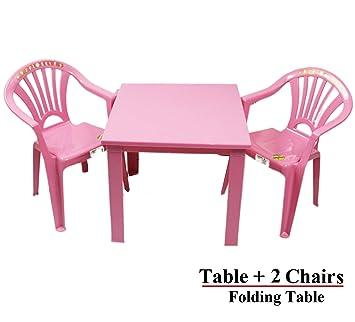 Plastikstühle Und Tischset Kindermöbel Für Den Garten Oder Den