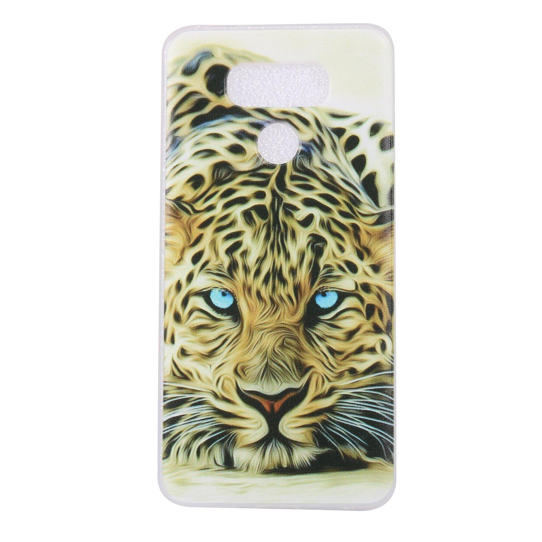 COZY HUT Cover LG G6 3D Fashion Ultra Slim Sottile TPU Cover Soft Gel Silicone Protettivo Skin Back Cover per LG G6 - Tigre Leopardo