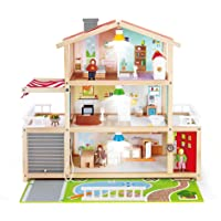 HAPE E3405 Doll Family Mansion| Award Winning 10 Bedroom Doll House,Multicolor L: 31.6, W: 11.4, H: 28.4 inch