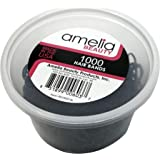 1000 Count Rubber Bands in Re-closable Container for Ponytails and Braids (Black)
