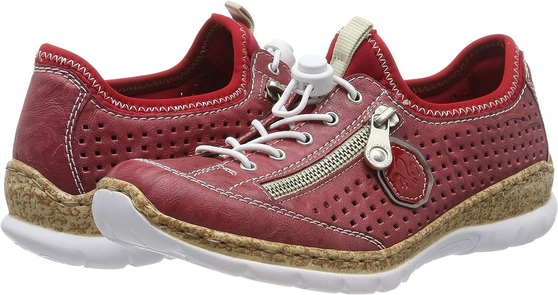Rieker Sneaker Slipper rot Größe 38  Memo Soft Outdoor Zipper Damen M6269
