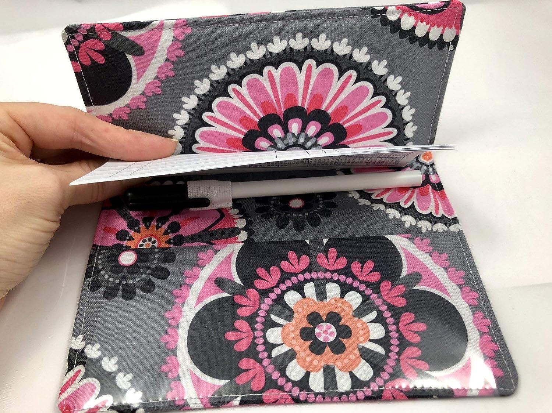 Duplicate Checkbook Cover Register with Pen Holder La Dee Da Pink