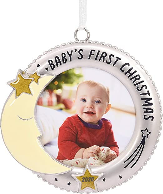 Christmas Moon 2020 Hallmark Ornament 2020 Year Dated, Premium Baby's First Christmas