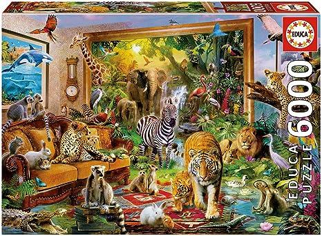 Educa Borras - Genuine Puzzles, Puzzle 6.000 piezas, Entrando en la habitación (17679): Amazon.es: Juguetes y juegos