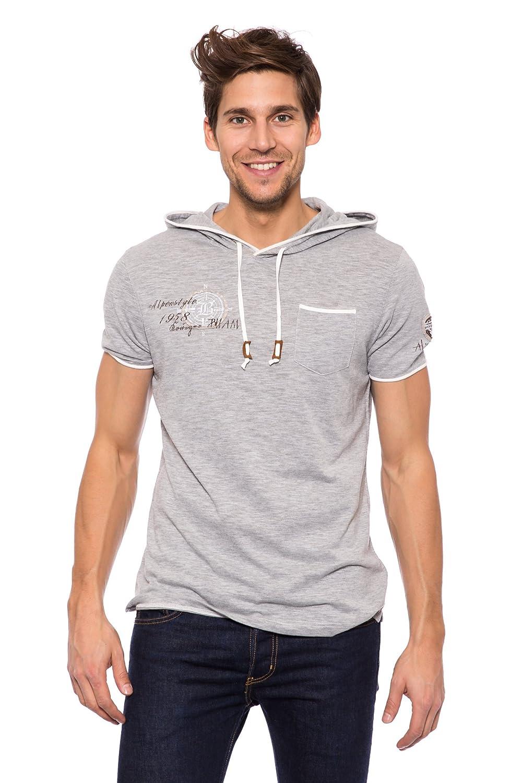 Krüger Herren T-Shirt mit Kapuze Alpenstyle
