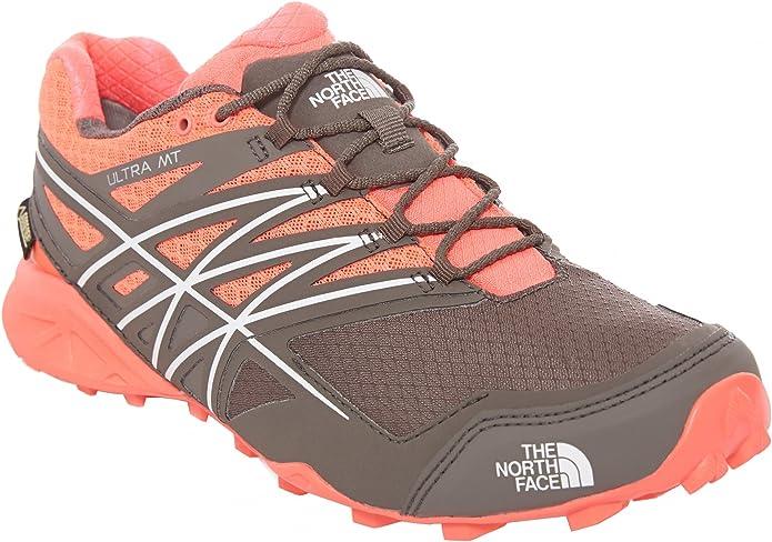 The North Face W Ultra MT GTX, Zapatillas de Running para Mujer, Rojo (Rocket Red/Dark Gull Grey), 38 1/2 EU: Amazon.es: Zapatos y complementos