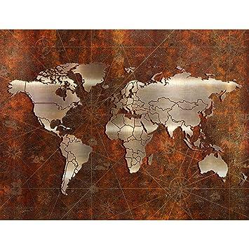Fototapete Weltkarte Vlies Wand Tapete Wohnzimmer Schlafzimmer Büro ...