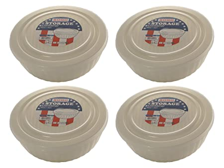 Set de 4 Sogo 95oz/3QT redondo sin BPA Contenedores de ...