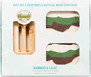 Bamboo Soap (GIFT SET) - Handmade Soap Bar with Lilac Essential Oils - Organic and All-Natural – by Falls River Soap Company