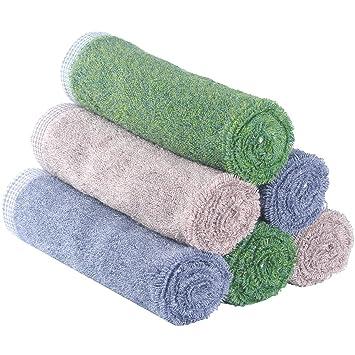 "Premium Bambú adulto manopla de toallas (6 unidades) para youlertex, 13 """