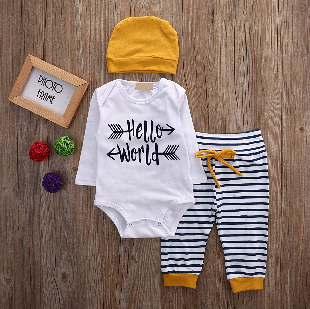 Hat Outfits Cotton Clothes Pants SUNMUY Newborn Layette Sets Baby Boys Girls Top Rompers