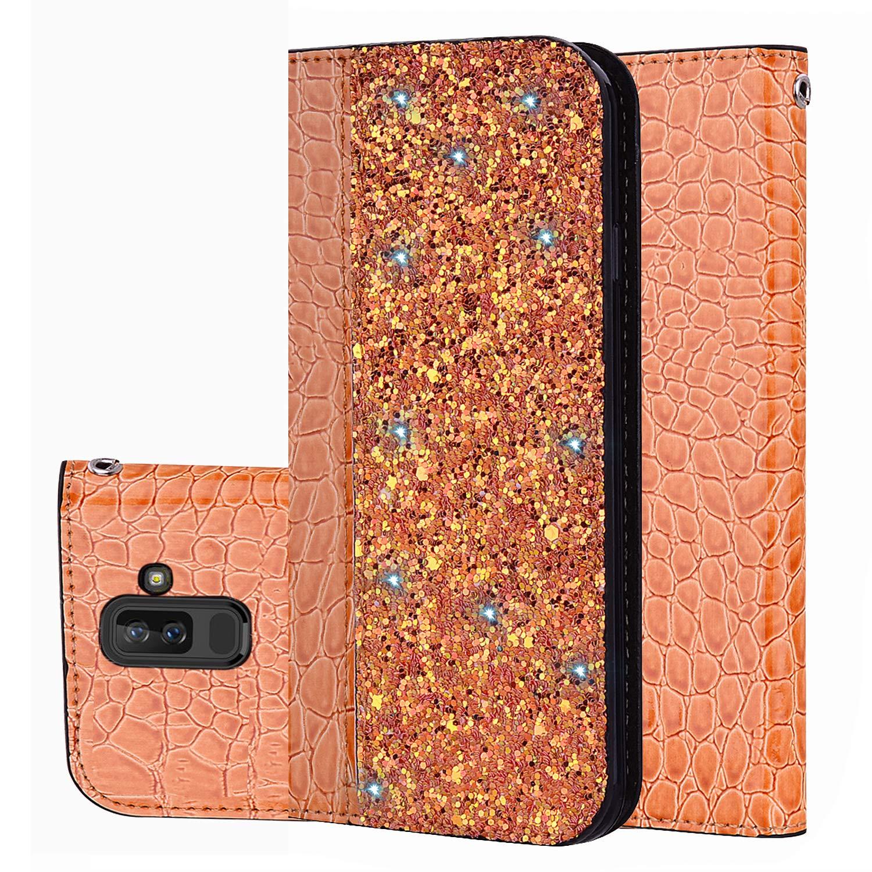 für Smartphone Samsung Galaxy A6 Plus 2018 Hülle, Leder Tasche für Samsung Galaxy A6 Plus 2018 (6.0 Zoll) Flip Cover Handyhülle Bookstyle mit Magnet Kartenfächer Standfunktion (1) Laoke