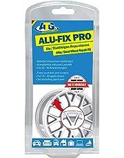 Kit de reparación de llantas de aleación ATG - Relleno especial para llantas de aleación y ruedas de acero para daños en la superficie - Incluye pluma de pintura metálica de aluminio plateado - Reparación inteligente de bricolaje (embalaje surtido)