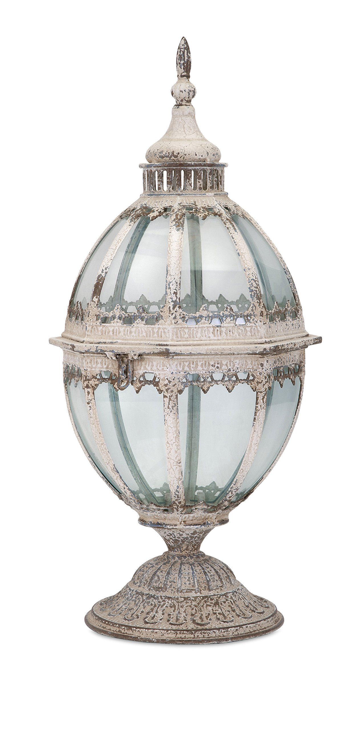 Laurel Metal and Glass Lantern by IMAX Worldwide Home