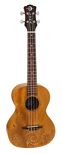 Luna Mahogany Series Tattoo Tenor Ukulele