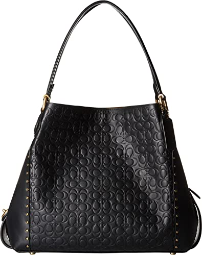 COACH Women s Edie 31 Shoulder Bag in Signature Leather B4 Black One Size d443444ff6