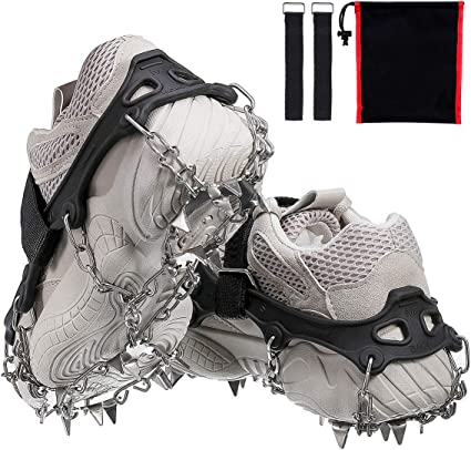 Anti-Slip Snow Ice Grippers with Safety Strap Small Medium S//M