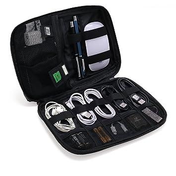 81ab6b3339 BAGSMART Small Travel Electronics Cable Organiser Bag for Hard Drives