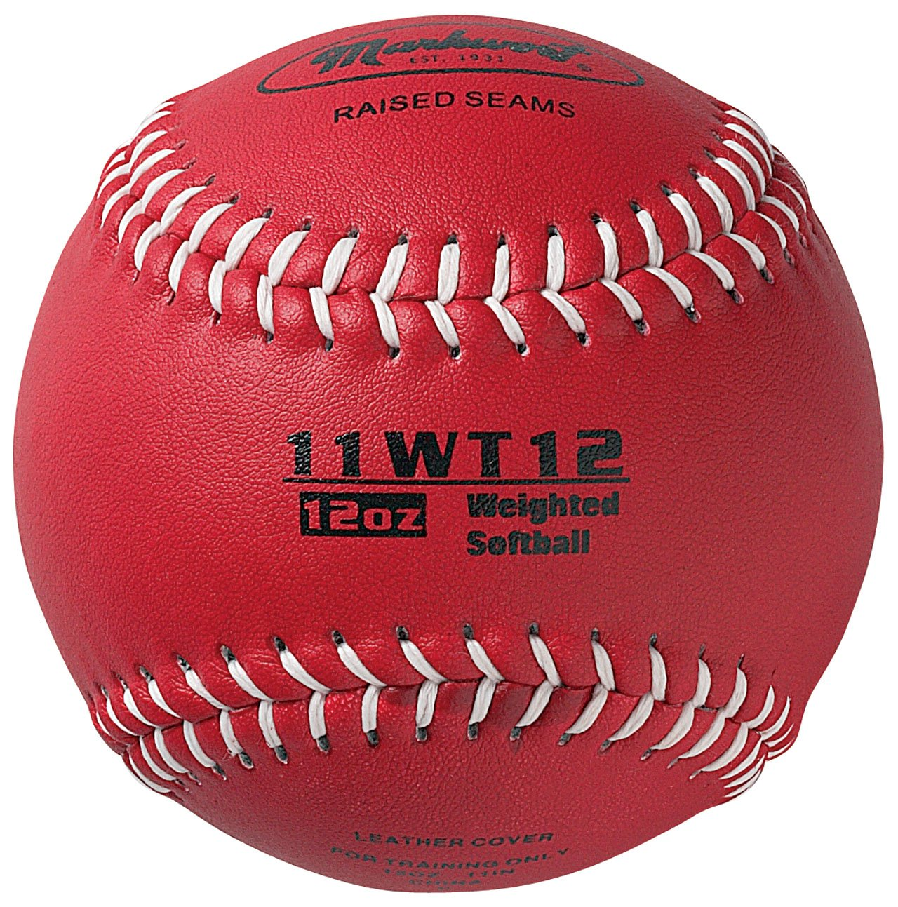Markwort Color Coded Weighted 11-Inch Softball (12-Ounce, Maroon) 11WT12