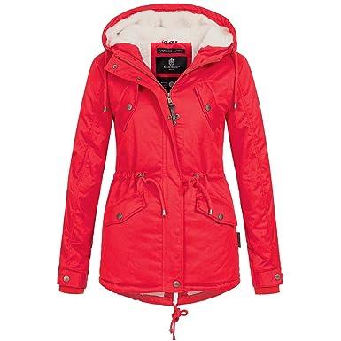 new product 1bd21 3a828 Marikoo Damen Winter Jacke Parka Mantel Winterjacke Baumwoll Wintermantel  warm gefüttert Teddyfell Manolya XS-XXL 7-Farben