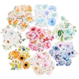 Molshine 360pcs Various Special Shaped Stickers-Flower Series Decals for Personalize Laptops, Skateboards, Luggage, Cars…
