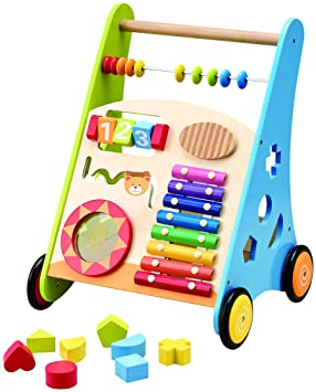Wooden Toys - Andador para bebés con Centro de Actividades