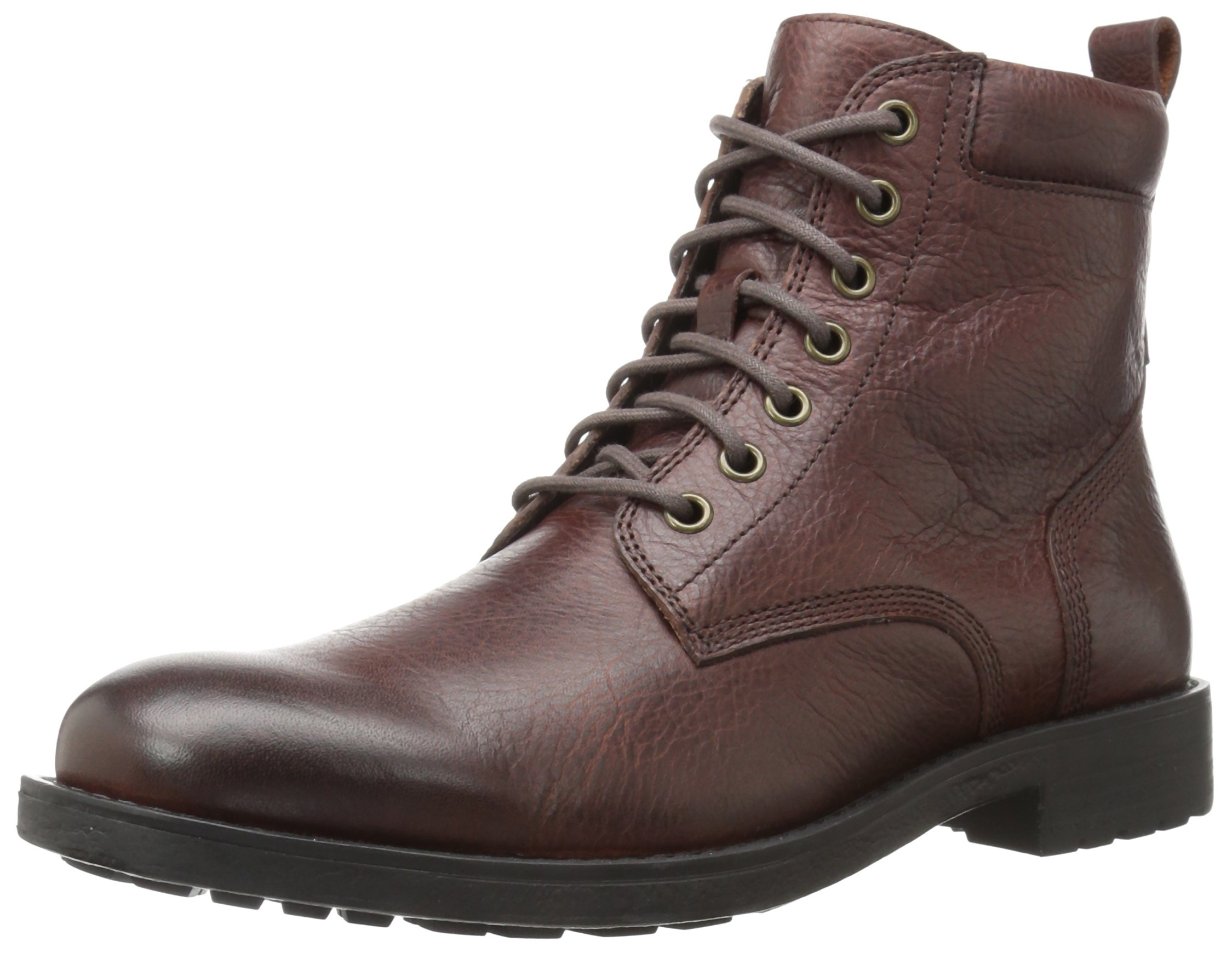 206 Collective Men's Denny Lace-up Motorcycle Boot, Dark Brown, 10.5 D US